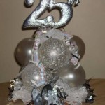 Anniversary Silver 25th topiary CP