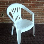 Chair polyresin white w arms