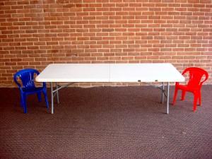Table Kiddie 6' white folding