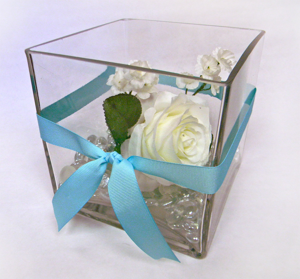 Centerpieces baltimores best events square 6in vase glass floral gemstones reviewsmspy