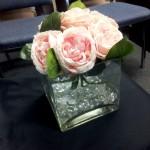 square vase floral with gemstones