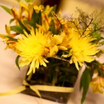 yellow centerpiece