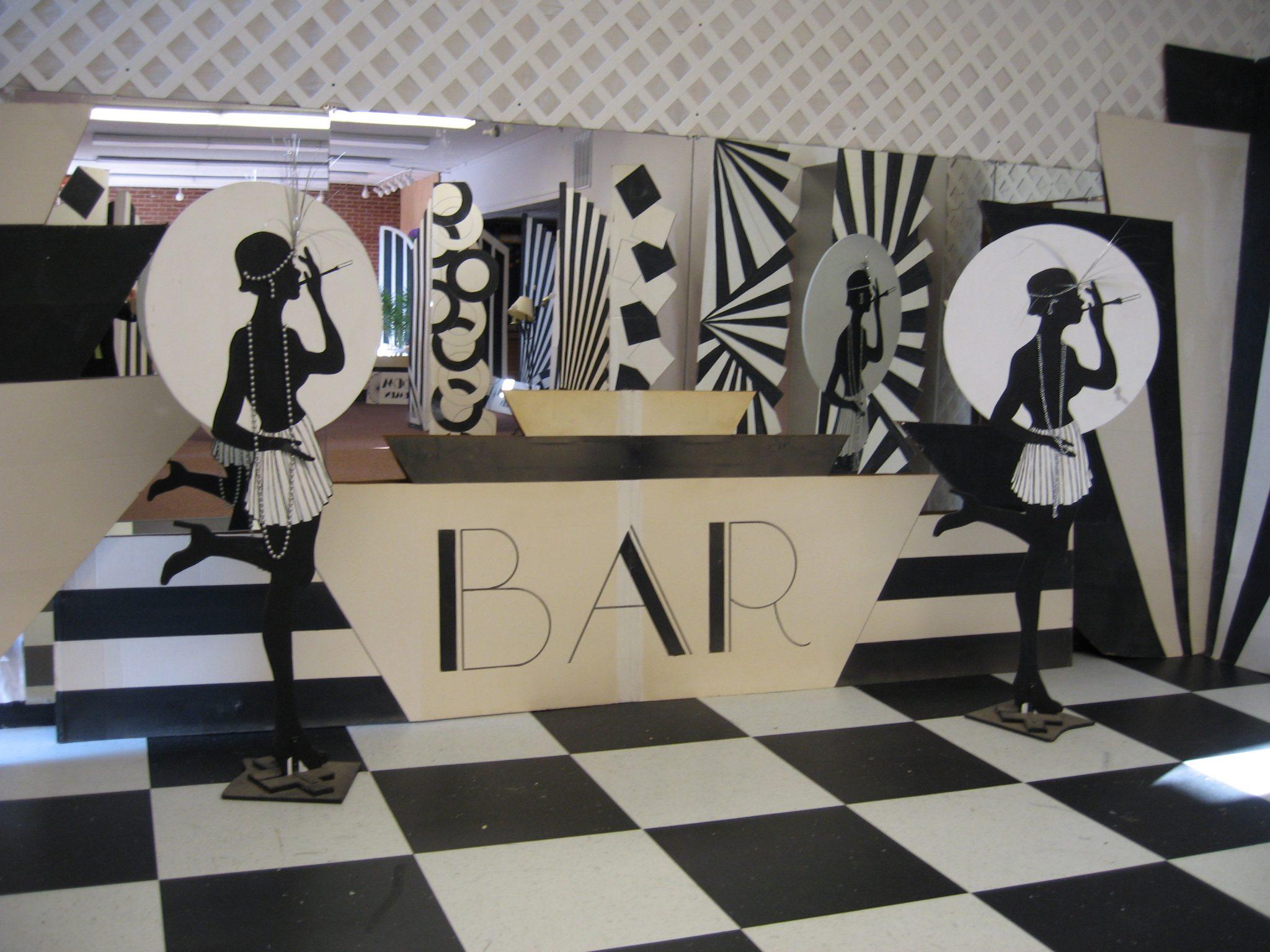Retro black white art deco baltimore 39 s best events for Art deco party decoration ideas