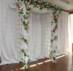 Arch Bridal Garden Pipe and Drape Decorated