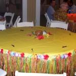 luau grass table skirt floral