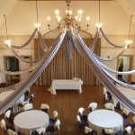 silver-lighted-ceiling-swags-fabric-for-wedding-reception-decor