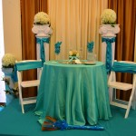 turquoise Linens Black Red Chair and Sash (3)