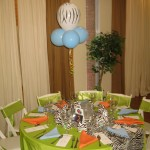 zebra table runner lime green linens table covering sash (2)