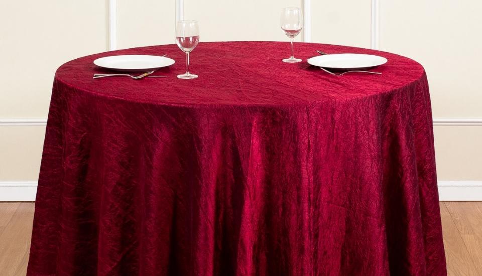 106–inch-round-crinkle-taffeta-tablecloth-burgundy