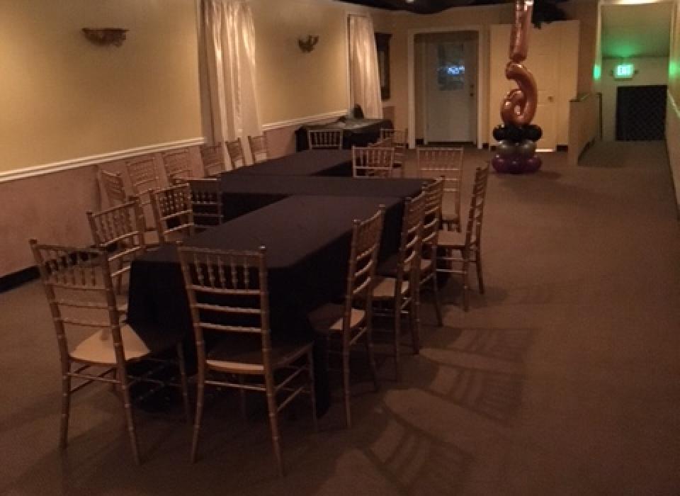 the Loft banquet table