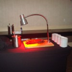 Heat Lamp Cutting Board Carving Station