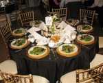 charger gold Table linens (2)