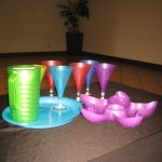 drinkware pitchers serving trays tropical