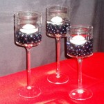 Glass 3 piece Candle 3 Trio CP