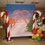 Backdrop Candy Cane Christmas