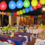 Balloon Ceiling Zig Zag Carnival ceiling Decor CPs