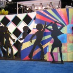 Disco Backdrop -$375, silhouettes $25 each