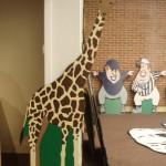Giraffe prop backdrop tott
