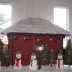 Holiday Xmas Trains Snowmen Northpole