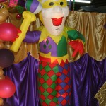 Mardi Gras Jester Inflatable  8'tall