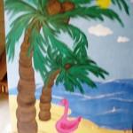 Palm tree photo op backdrop Tropical Luau Beach76