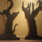 Halloween trees Backdrop - Halloween - Tree Silhouttes