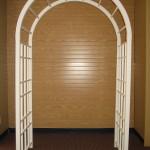 Arch Bridal Arch White Cathedral Trellis 7.5'h x 4.5'w x 2.5d
