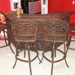 Bar Wrought Iron Bar & 4Barstools (1)