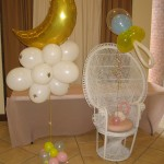 baby shower chair balloons