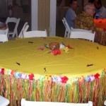 luau grass table skirt floral