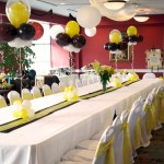 yellow sash chocolate runner