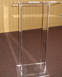 Podium Clear Acrylic 22in w x 48in h