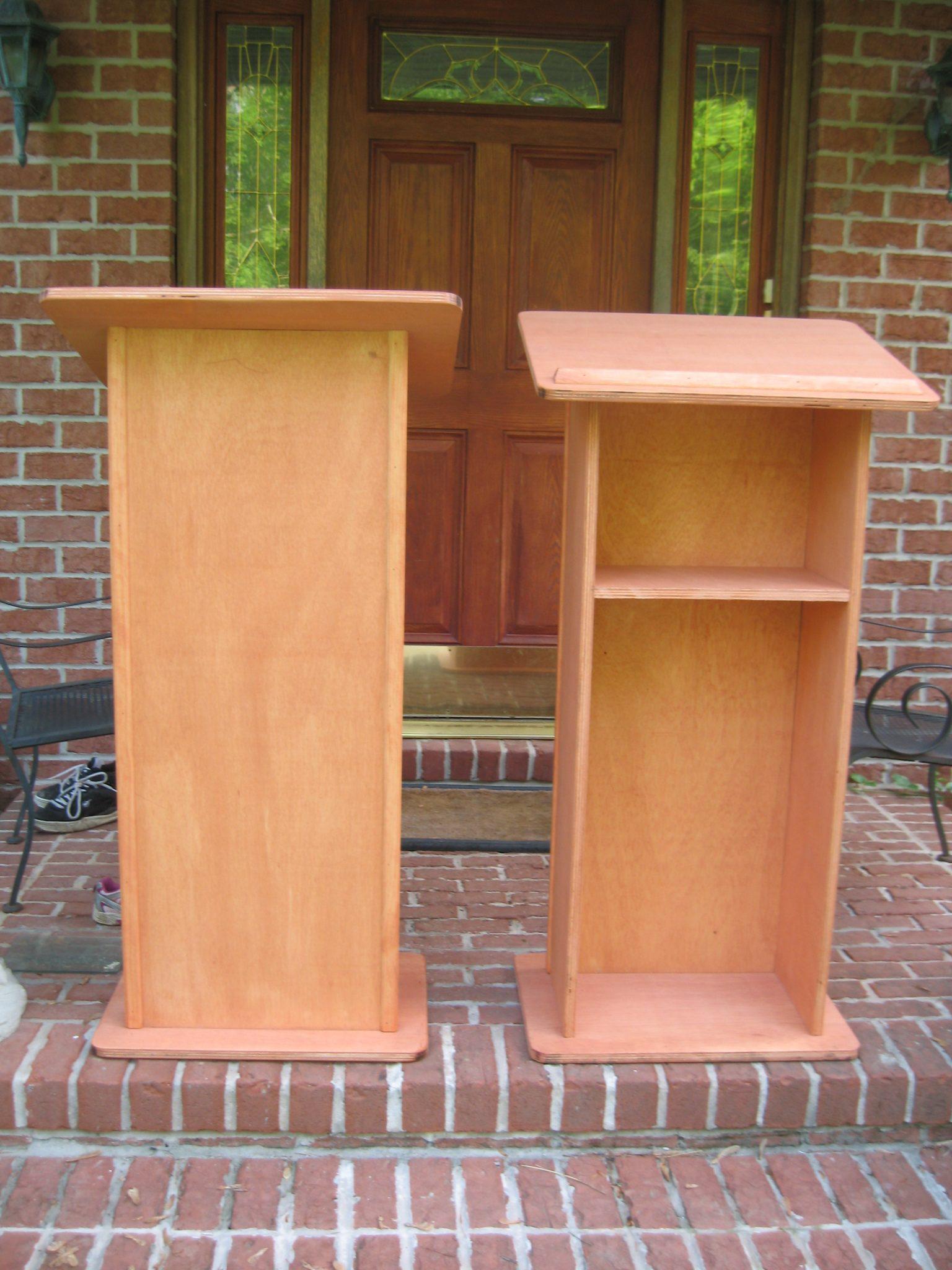 Wooden Oak Podium
