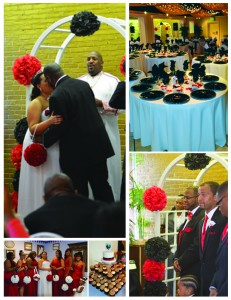 Wedding Black White Red