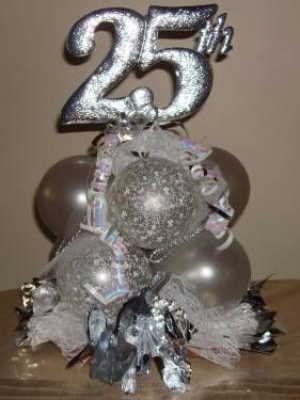 Anniversary Silver 25th topiary CP $22