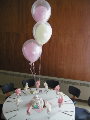 Double Stuffed Balloons helium filled bouquet of 3 $20