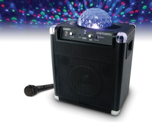 Sound System with Disco Ball Lightshow